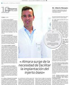 La Razón en su suplemento A Tu Salud publica un nuevo reportaje sobre Almara